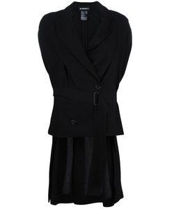Ann Demeulemeester | Sleeveless Belted Jacket 36 Cotton/Rayon/Viscose