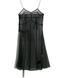 Quetsche | Sheer Shift Midi Dress Size 38