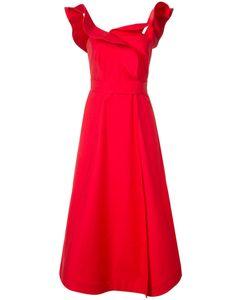 Vika Gazinskaya | Ruffled Straps Flared Dress