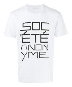 SOCIETE ANONYME | Футболка С Принтом Логотипа