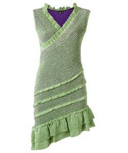 Gig | V Neck Knit Dress P Polyamide/Viscose/Spandex/Elastane