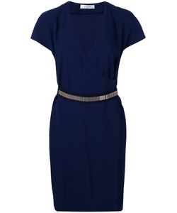 Lanvin | Chain-Trimmed Wrap Dress 42