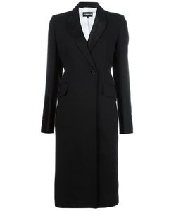 Ann Demeulemeester | Double Breasted Coat 40 Virgin Wool/Linen/Flax/Cotton/Rayon