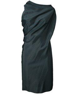 MM6 by Maison Margiela | Mm6 Maison Margiela Striped Draped Dress 38 Cupro