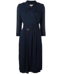 Burberry | Belted Shirt Dress 8 Silk