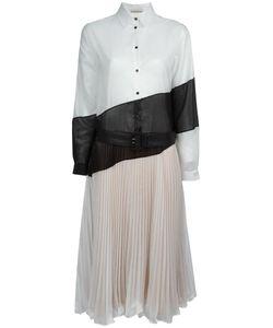 Marco De Vincenzo | Longsleeved Shirt Dress 42 Cotton/Acetate