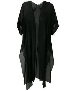 D.exterior | Draped Sheer Open-Front Top Size