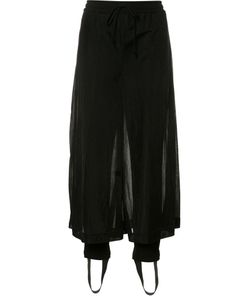 CHRISTIAN DADA | Sheer Cropped Trousers 36 Cotton/Nylon/Polyurethane