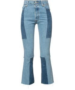 Re/Done | Patchwork Cropped Jeans 24 Cotton