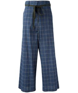 Hache | High-Rise Plaid Trousers 42 Cotton