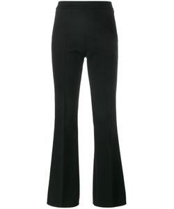 Giambattista Valli | High Waisted Fla Trousers 42 Cotton/Viscose/Spandex/Elastane/Acetate