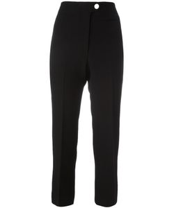 Helmut Lang | Cropped Trousers 6 Polyester/Viscose/Spandex/Elastane/Cotton