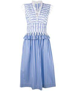 Ermanno Scervino   Waist Detail Striped Dress