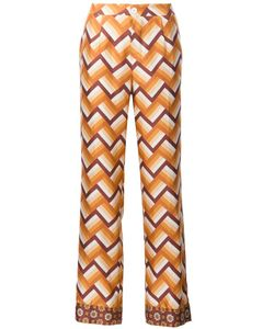 FOR RESTLESS SLEEPERS | Chevron Print Straight Trousers Small