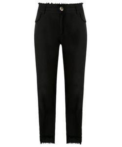 Uma Raquel Davidowicz | Straight Trousers 44 Linen/Flax/Spandex/Elastane/Viscose