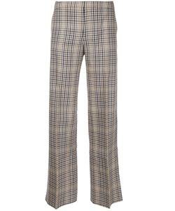 Irene | Straight-Leg Checked Trousers Size