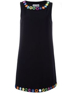 Moschino | Mirror Embroide Shift Dress Size 48 Triacetate/Polyester/Acetate/Rayon