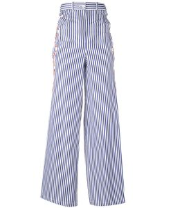 Marios | Striped Flared Pants L