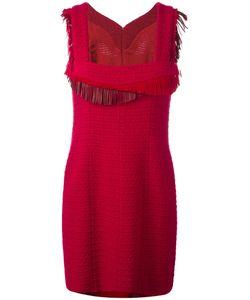 Chanel Vintage | Fringed Detail Dress 40 Wool/Silk