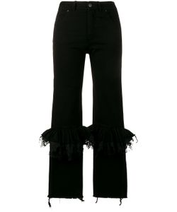 Preen By Thornton Bregazzi | Ruffle Knee Flared Jeans