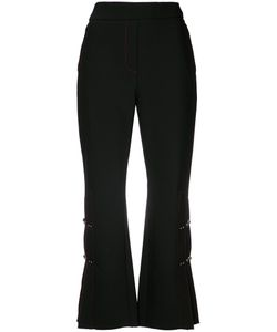 Ellery | Pleated Detail Cropped Trousers 6 Cotton/Polyester/Wool/Spandex/Elastane