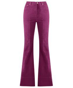 Amapô | High Waist Velvet Flared Trousers Size 40