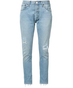 Re/Done | Distressed Cropped Jeans