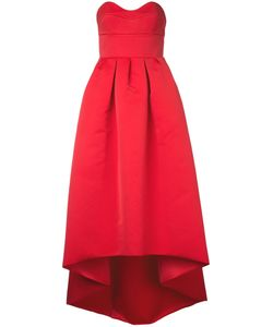 Paule Ka   Strapless Woven High Low Dress