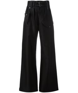 Joseph | High-Waisted Trousers 36 Acetate/Viscose/Polyurethane/Cotton