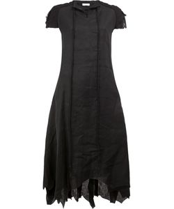 AGANOVICH | Pointy Shortsleeved Dress 36 Linen/Flax