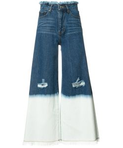Maison Mihara Yasuhiro | Wide-Legged Ripped Cropped Jeans Size 36