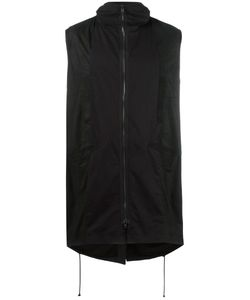 Isabel Benenato | Zipped Sleeveless Coat 48 Leather/Cotton