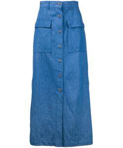 Cityshop | Buttoned Midi Skirt 36 Cotton