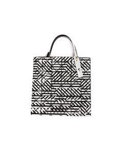 BAO BAO ISSEY MIYAKE   Geometric Pattern Tote Bag Nylon/Polyester/Polyurethane/Polyvinyl