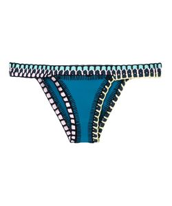 KIINI | Embroidered Flor Bikini Bottom Size Medium