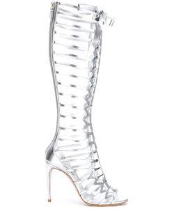 Casadei   Open Toe Lattice Boots