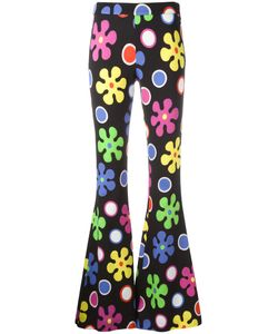 Moschino | Flower Power Fla Trousers 44 Rayon/Other Fibers