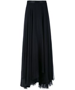 Lanvin | Pleated Draped Skirt 36 Silk/Acetate/Viscose
