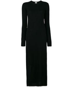 Saint Laurent | Длинное Трикотажное Платье С Разрезом
