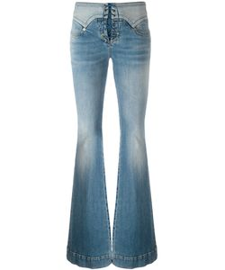 Roberto Cavalli | Lace-Up Vintage Effect Flare Jeans 44