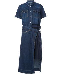 Sacai | Джинсовое Платье С Плиссированной Панелью