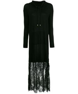 Twin-set | Платье С Капюшоном И Кружевной Вставкой