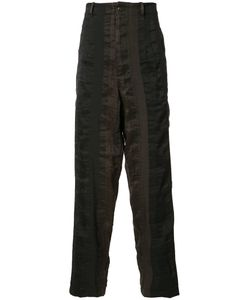 UMA WANG | Striped Trousers Large Linen/Flax/Polyester