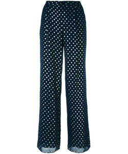 Emporio Armani | Dots Print Fla Trousers 46 Polyester/Cotton/Viscose