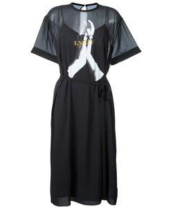 Mcq Alexander Mcqueen | Mesh Overlay Midi Dress Size 44