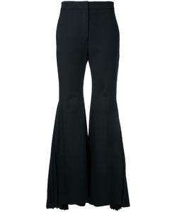 Sara Battaglia   Pleated Flared Trousers Size 44