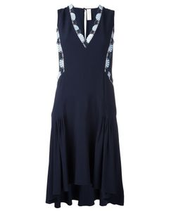 Peter Pilotto | Embellished V-Neck Dress 10 Acetate/Viscose/Polyester