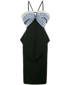 Roland Mouret | Off-Shoulder Halterneck Dress Size 14
