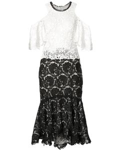 Monique Lhuillier   Кружевное Платье С Открытыми Плечами