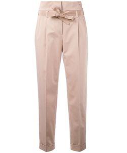 Alberta Ferretti | Belted Cigarette Trousers Size 46